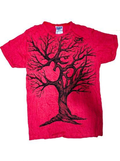 T-Shirt rot mit Baum